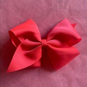 BOGO- Bright pink large bow w/ clip